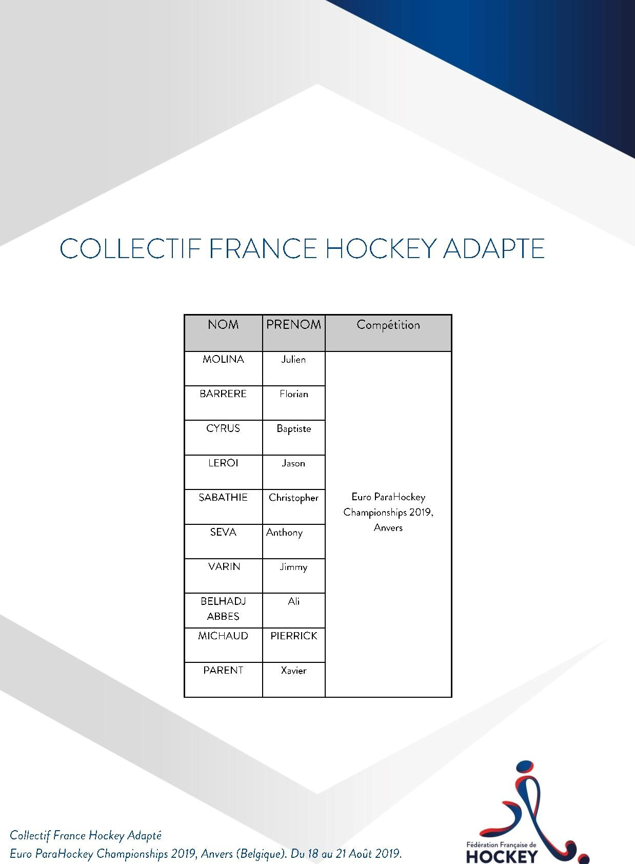 Collectif France Hockey Adapté Euro ParaHockey page 001