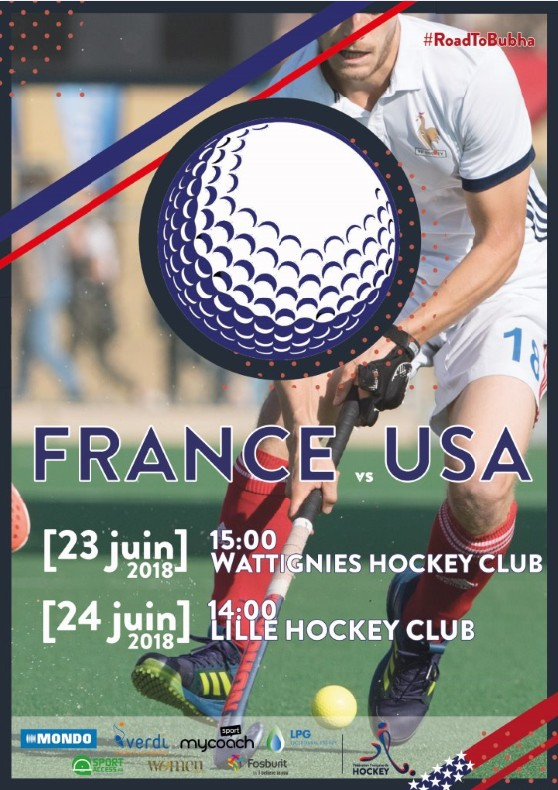 France vs USA juin2018 Affiche