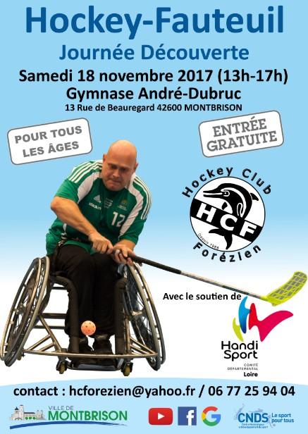 Affiche Hockey Fauteuil 2017