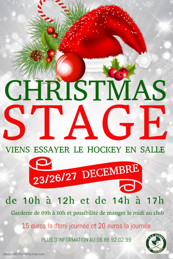 stage noel affiche TAC Hockey