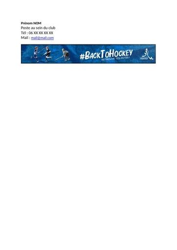 Signature mail #BackToHockey